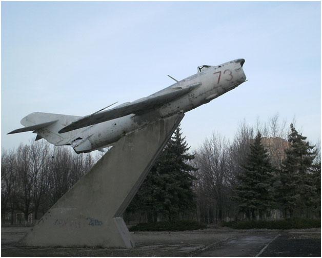 Памятник «Самолет МиГ-17ПФ» в г. Краматорск Донецкой ...  Карта Донецкой Области