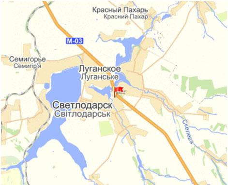 Карта пгт Луганское