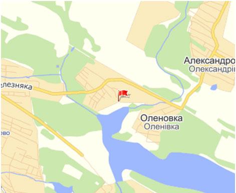 Карта пгт Оленовка г.