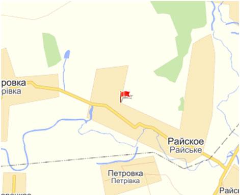 пгт Райское г. Дружковка Донецкой области - Донбасс ...  Карта Донецкой Области